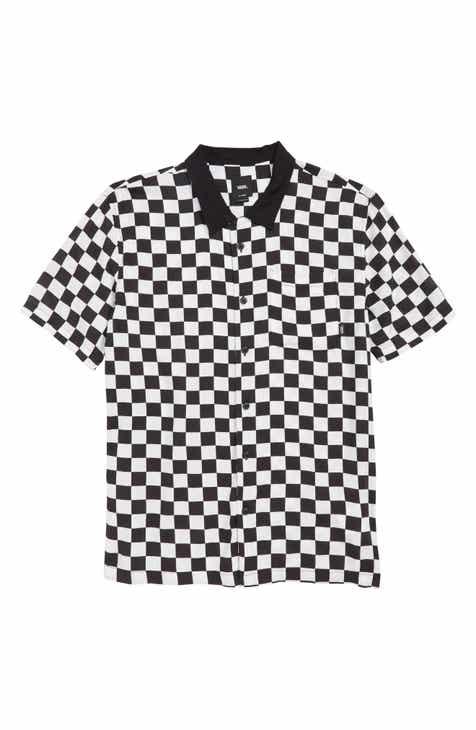 21a9d962c76 Vans Checker Camp Shirt (Big Boys)