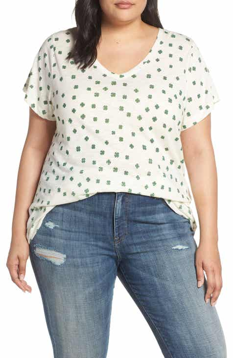 Lucky Brand Clover Tee (Plus Size) 86b90dfe9