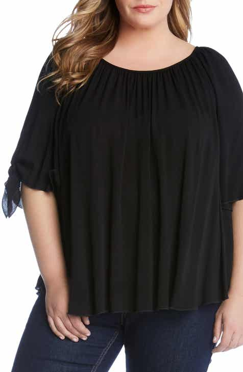 1d70a26cded699 Karen Kane Tie Sleeve Top (Plus Size)