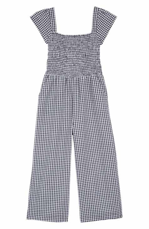 b5a93057860 Tucker + Tate Boardwalk Smocked Gingham Jumpsuit (Big Girls)