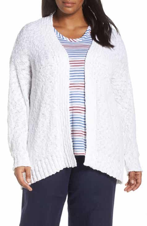 Barefoot Dreams® Cozychic Lite® Coastal Hooded Cardigan (Plus Size) by BAREFOOT DREAMS