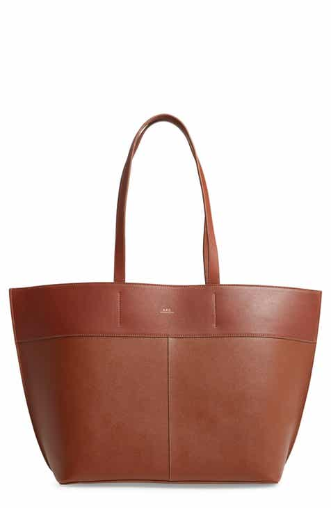 b7d067238570 A.P.C. Totally Leather Tote Bag