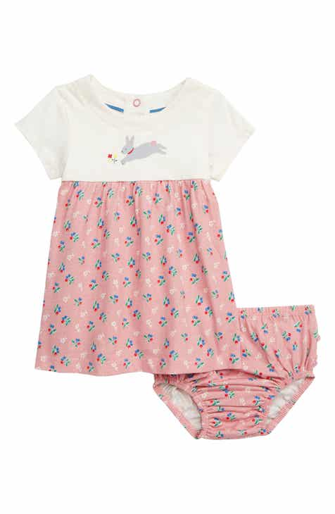 Mini Boden Bunny   Blossoms Jersey Dress (Baby) 55801e994983