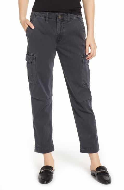 ELOQUII Sateen Stretch Cotton Cargo Pants (Plus Size) by ELOQUII