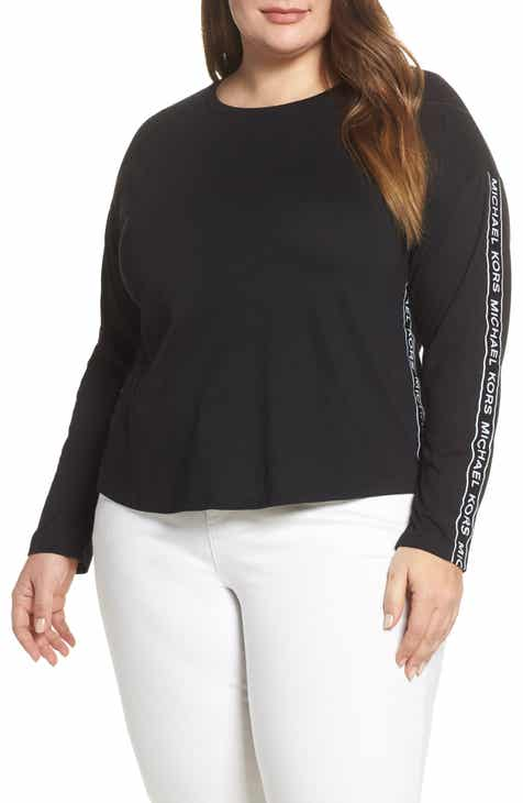 672feeba5 MICHAEL Michael Kors Logo Tape Top (Plus Size)