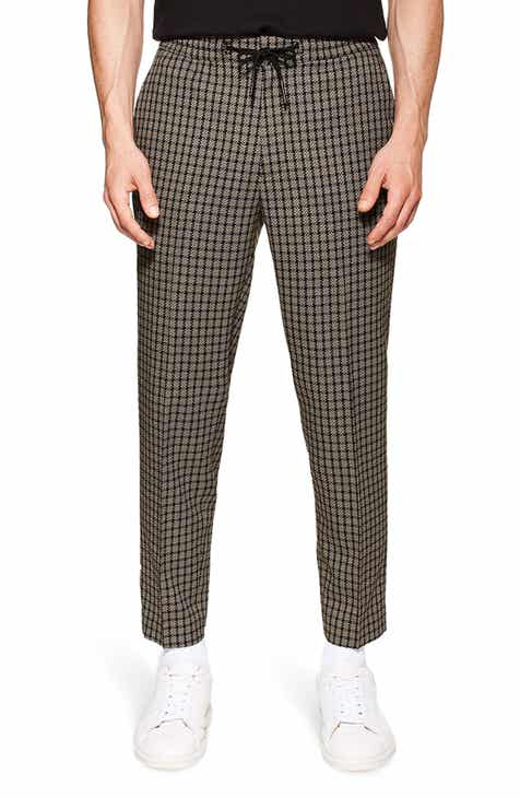 405786a5f4 Topman Check Slim Fit Cropped Trousers