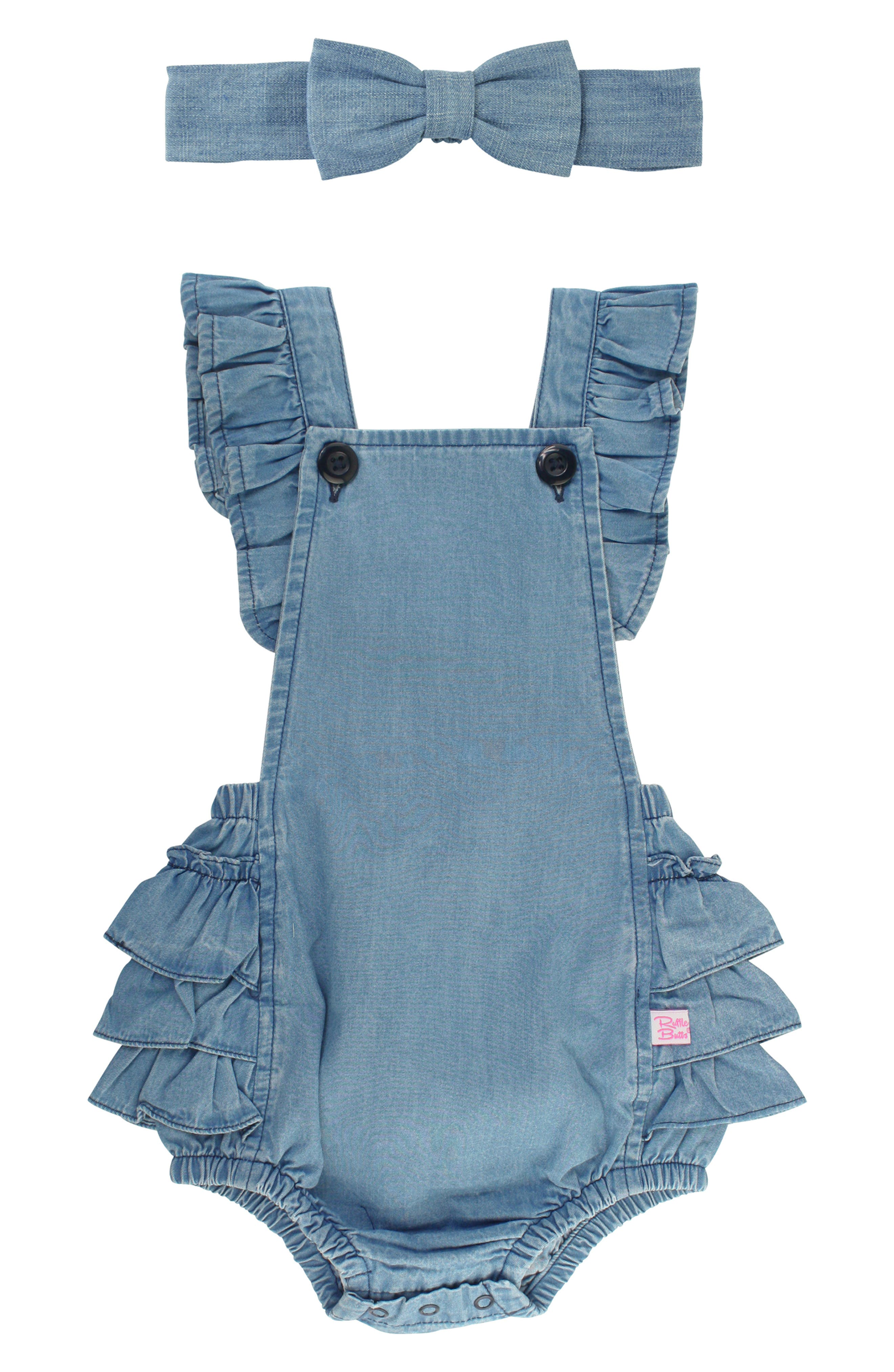 Yvowming Newborn Baby Girl Romper Bodysuit Ruffle One Piece Jumpsuits Baby Summer Outfits Clothes