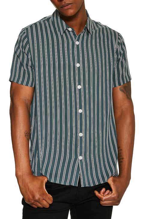 9918335f11a Topman Short Sleeve Stripe Slim Shirt