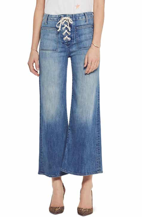 62ecdddffa68d4 MOTHER The Lace Up Crop Flare Jeans (Where There s Smoke)