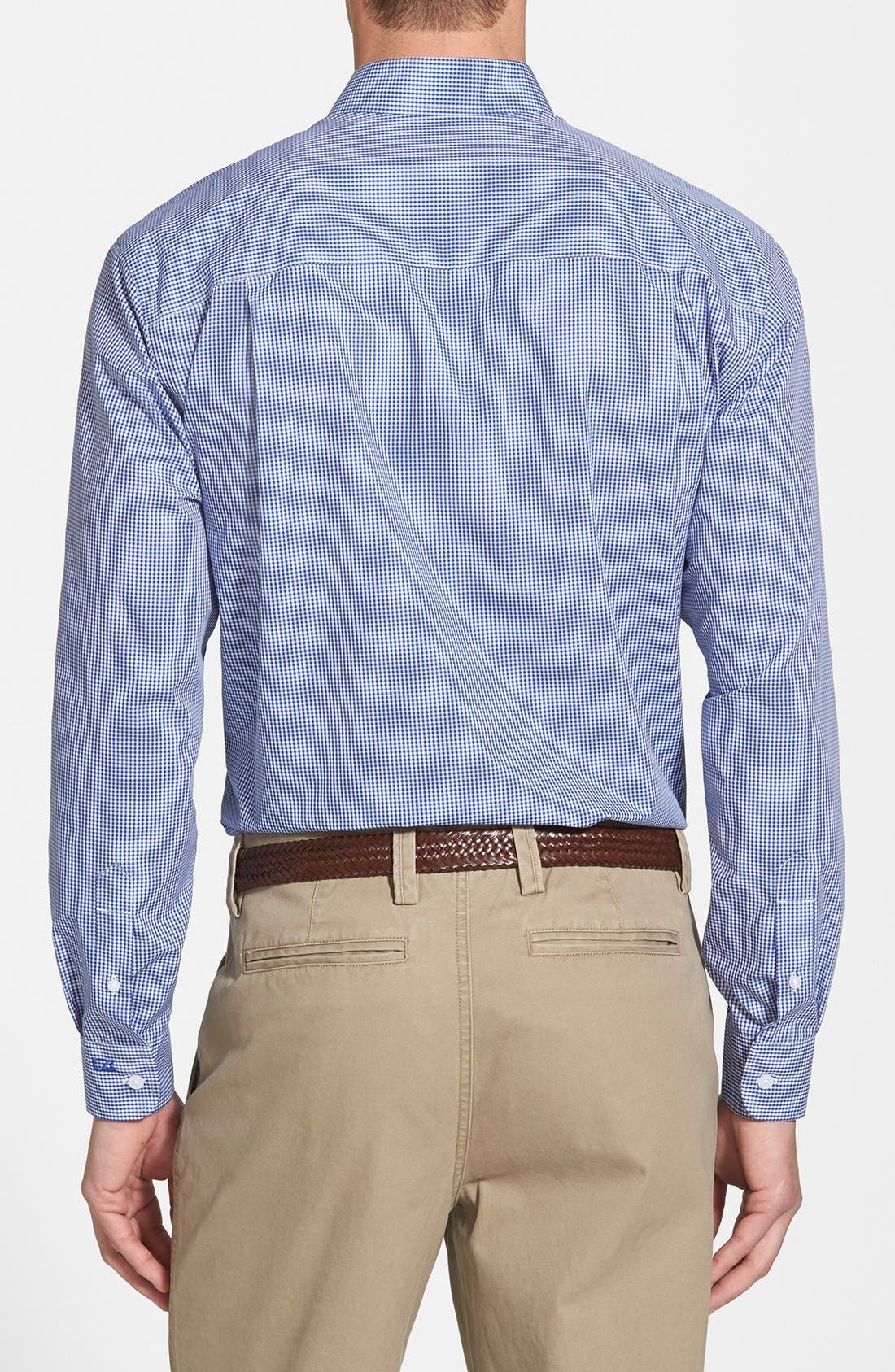 'Epic Easy Care' Classic Fit Wrinkle Free Gingham Sport Shirt,                             Alternate thumbnail 2, color,                             French Blue