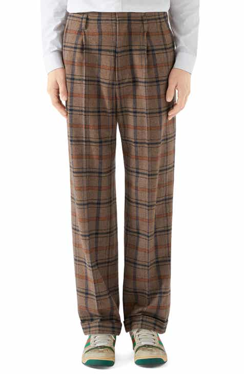 Gucci Plaid Trousers