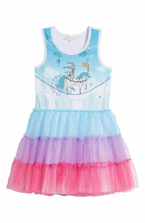 77a760a982 Truly Me Circus Horse Stripe Tulle Dress (Toddler Girls   Little Girls)