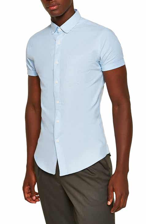 9f31488aed16 Topman Muscle Fit Oxford Shirt