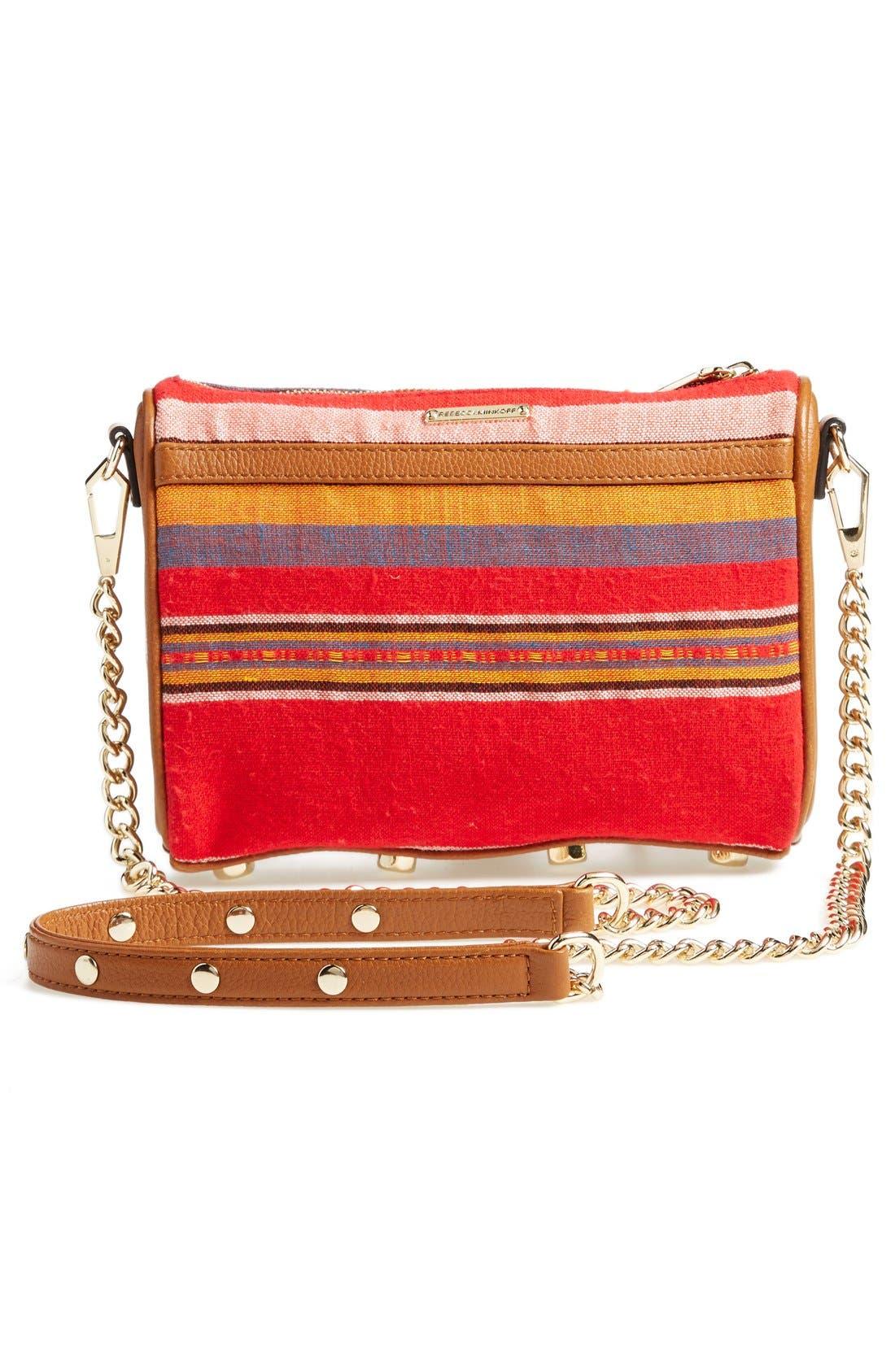 Piece & Co. and Rebecca Minkoff 'Mini MAC' Convertible Crossbody Bag,                             Alternate thumbnail 3, color,                             Orange Multi
