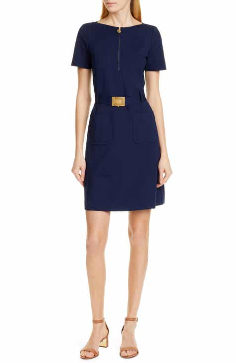 Tory Burch Fit & Flare Ponte Knit Dress
