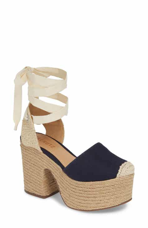 0437fb69ae13 Schutz Fedra Lace-Up Espadrille Platform Pump (Women)