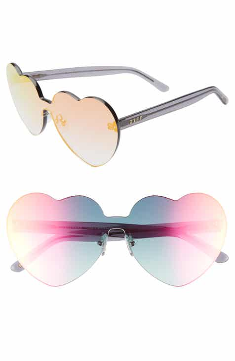 20eed5794b1b DIFF Rio 64mm Heart Shaped Sunglasses