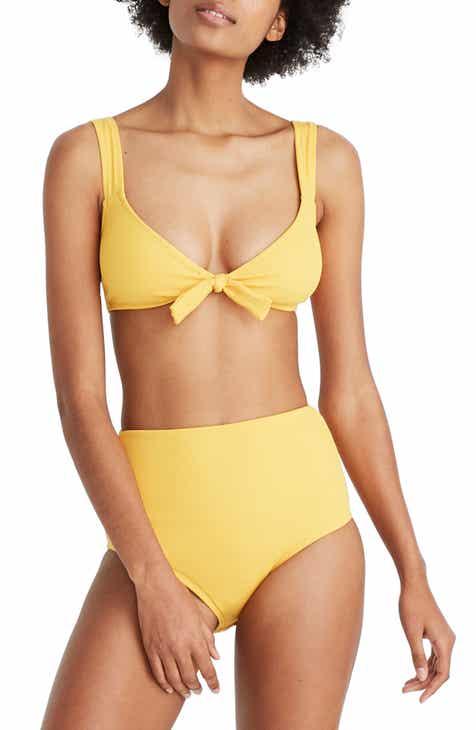 4b7f0485e602c Madewell Second Wave High Waist Ribbed Bikini Bottoms