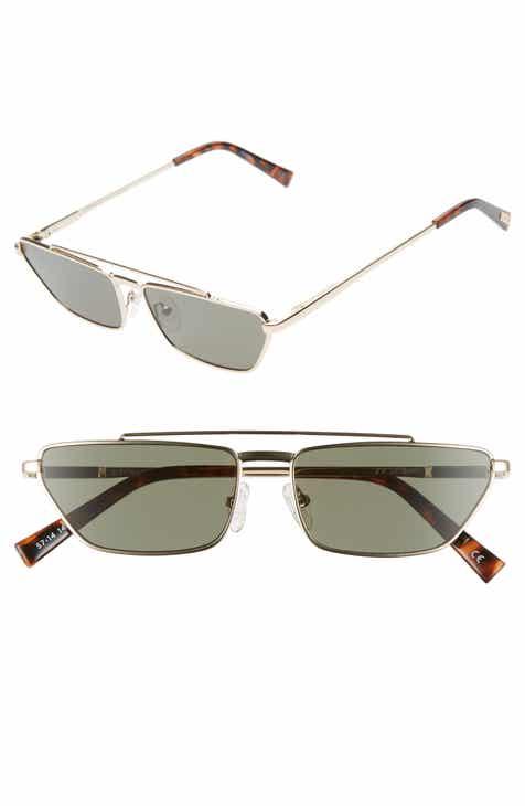 e8f3876603be Le Specs Electricool 57mm Cat Eye Aviator Sunglasses