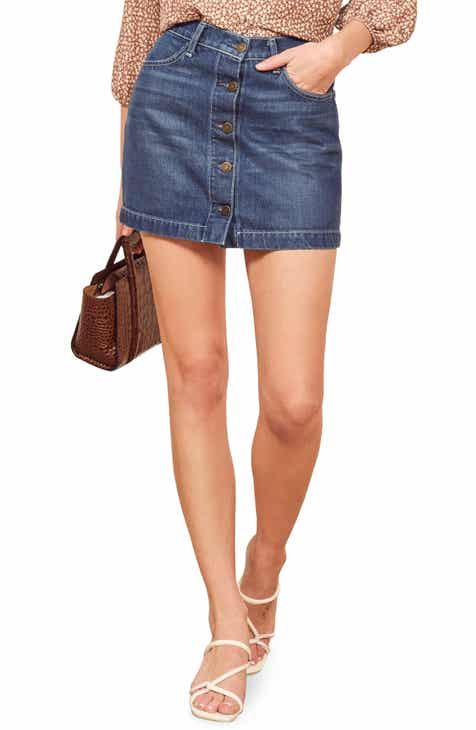 FRAME Cutoff Denim Miniskirt by FRAME DENIM