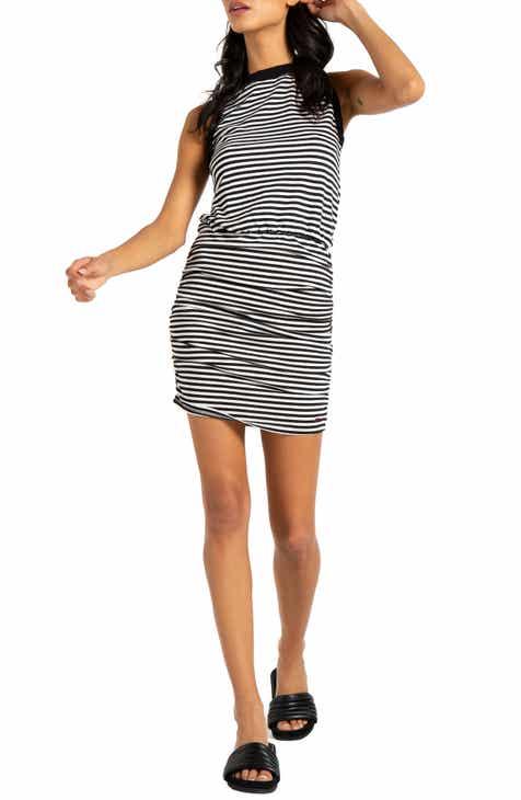 db3c2451571 n PHILANTHROPY Majorca Stripe Ruched Minidress