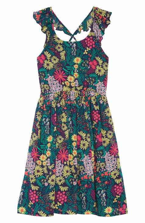 886655208b4b Tucker + Tate Floral Flutter Sleeve Dress (Big Girls)