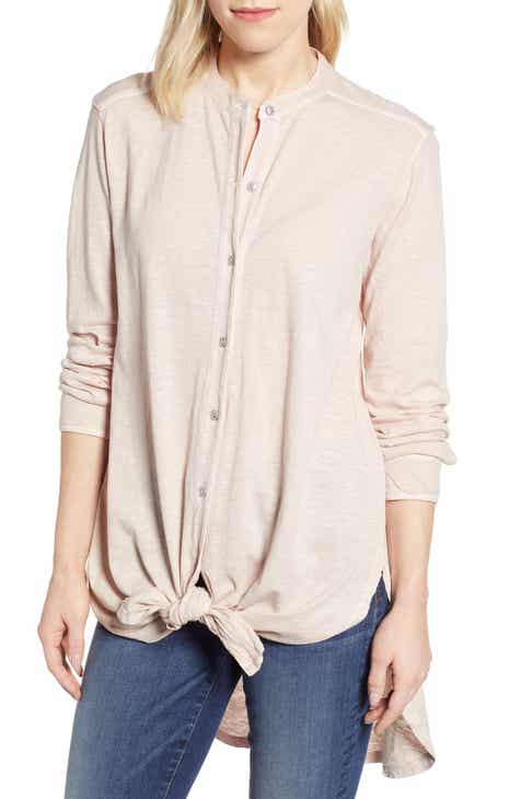 71ab93fd7a5 Caslon® Button Down Knit Tunic (Regular & Petite)