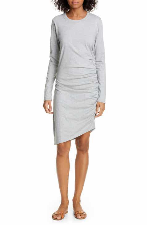 Veronica Beard Jaelyn Long Sleeve Ruched Dress