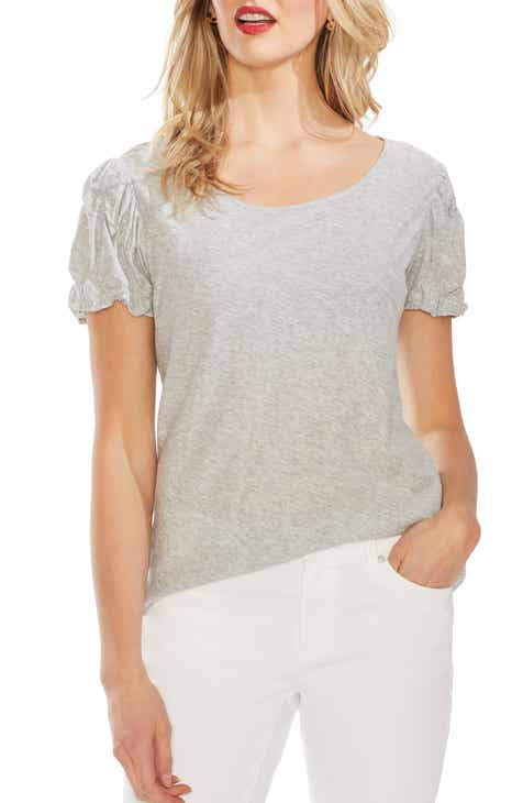 Vince Camuto Cinched Sleeve Tee