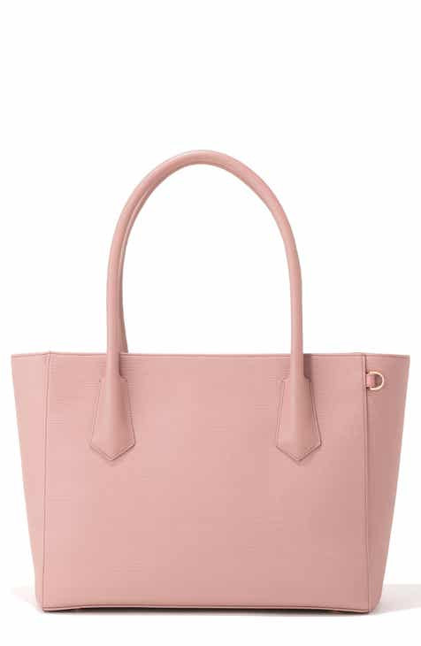 682fb34688cc Pink Tote Bags for Women: Leather, Coated Canvas, & Neoprene   Nordstrom