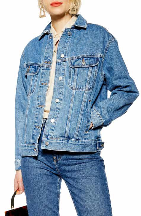 7d310b8366d1 Topshop Oversized Denim Jacket