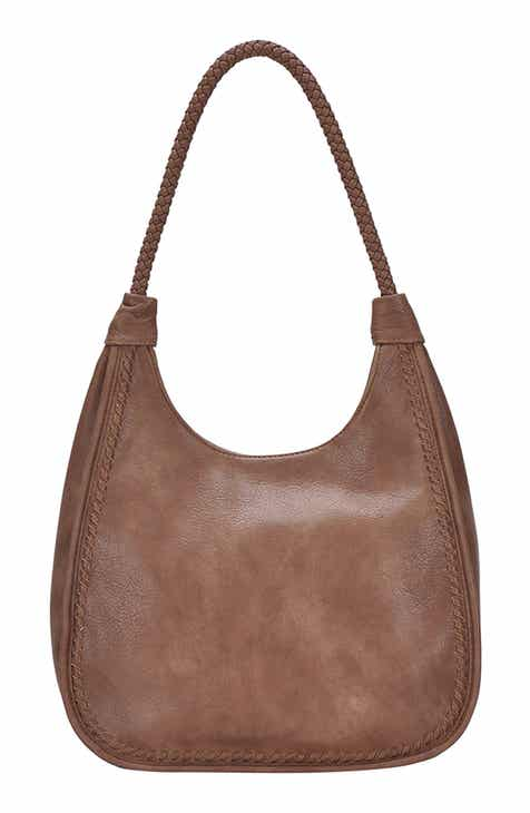 7211cba5e0639 ANTIK KRAFT Braided Handle Faux Leather Hobo