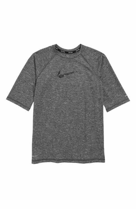 7998a694d767 Nike Dry Heathered Camo Swoosh Rashguard (Big Boys)