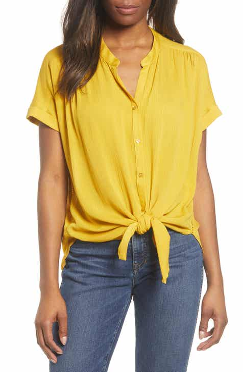 0e9d556e3b6 Caslon® Relaxed Button Front Top