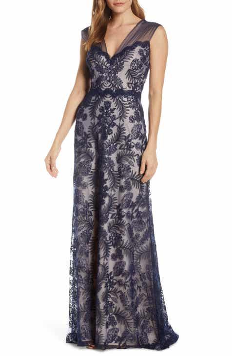 b31546143e3cc Tadashi Shoji Embroidered Lace Evening Gown