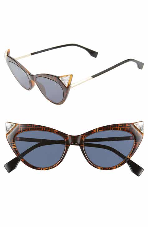 e57137a9b26 Fendi 52mm Flat Front Cat Eye Sunglasses