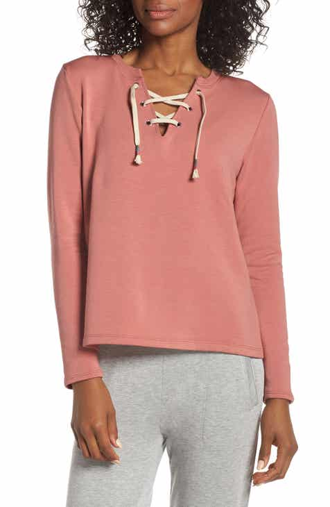 Wildfox Theo Rose & Stripe Cotton Blend Hoodie by WILDFOX