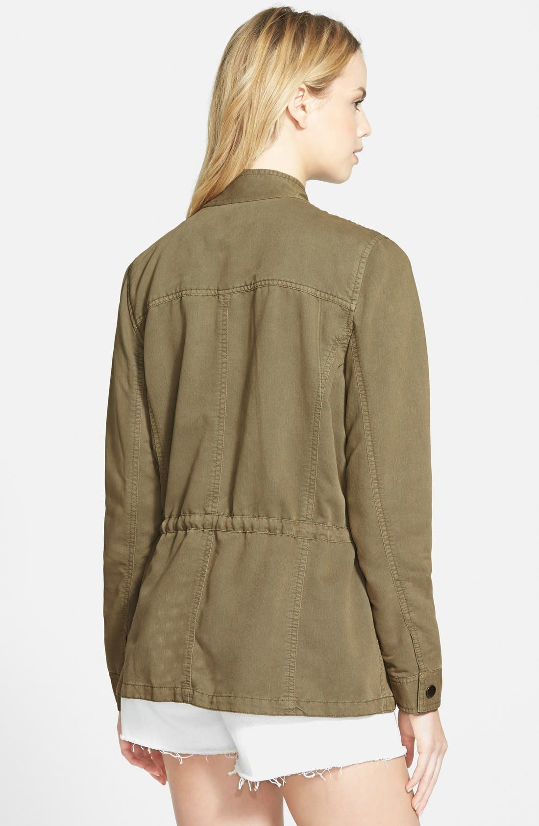 Drapey Military Jacket,                             Alternate thumbnail 2, color,                             Washed Olive Covert