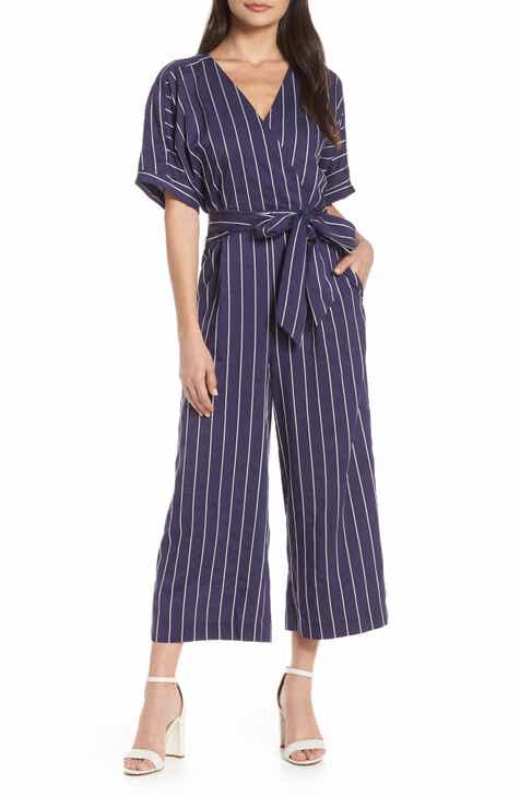 717bfaf2f1014 Chelsea28 Stripe Kimono Sleeve Jumpsuit