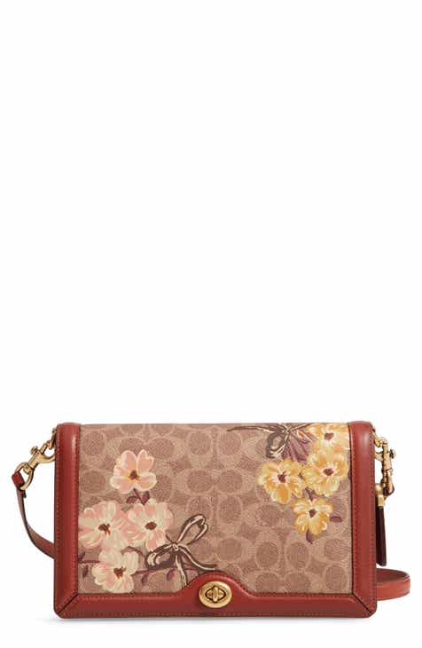 6eab684b63d8 COACH Riley Prairie Blossoms Signature Canvas Crossbody Bag