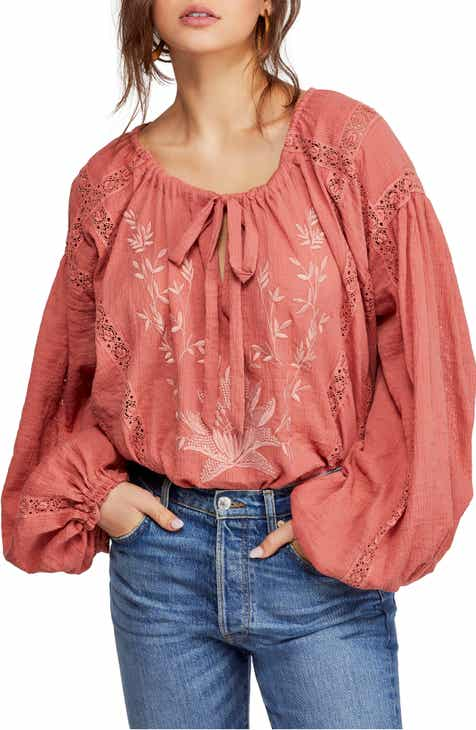 f66167db0df706 Free People Maria Maria Lace Blouse