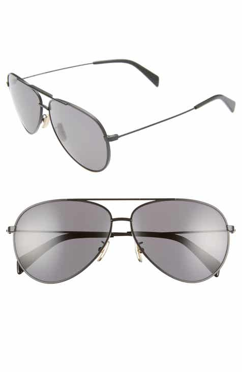 bb8a2432417d CELINE 61mm Aviator Sunglasses.  500.00. Product Image. BLACK  SMOKE