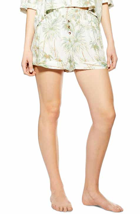 Topshop Tropical Print Pajama Shorts by TOPSHOP