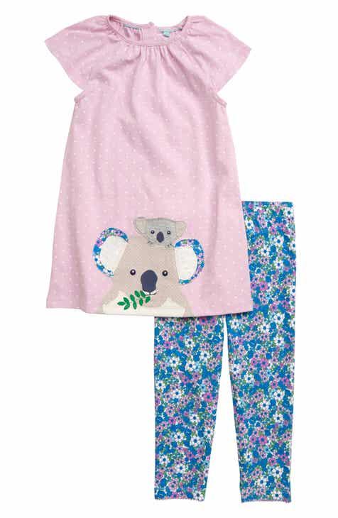 512cedeb0afd Mini Boden Koala Appliqué Dress   Leggings Set (Toddler Girls)