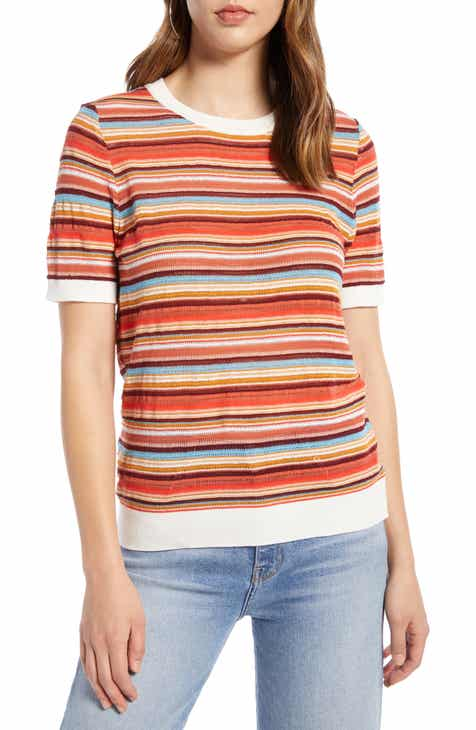 Nordstrom Signature Cashmere & Linen V-Neck Sweater by NORDSTROM SIGNATURE