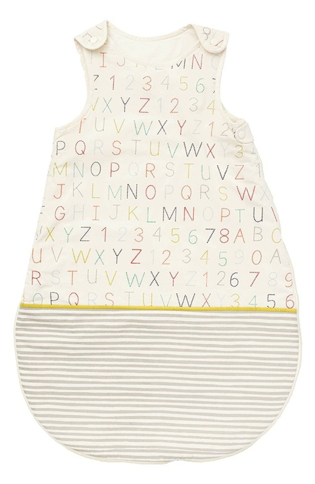 Cotton Bunting Bag,                         Main,                         color, Alphabet