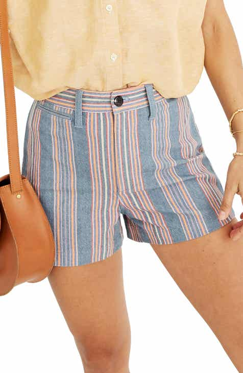 Madewell Emmett Rainbow Stripe Shorts by MADEWELL