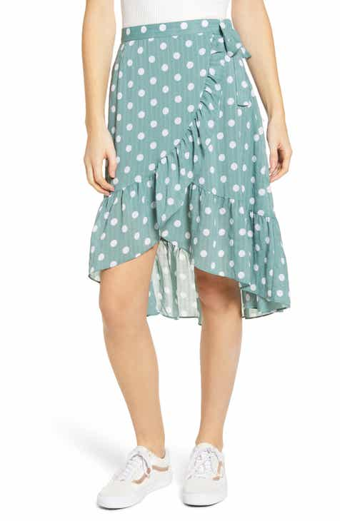 MINKPINK Misty Polka Dot Ruffle Wrap Skirt by MINKPINK