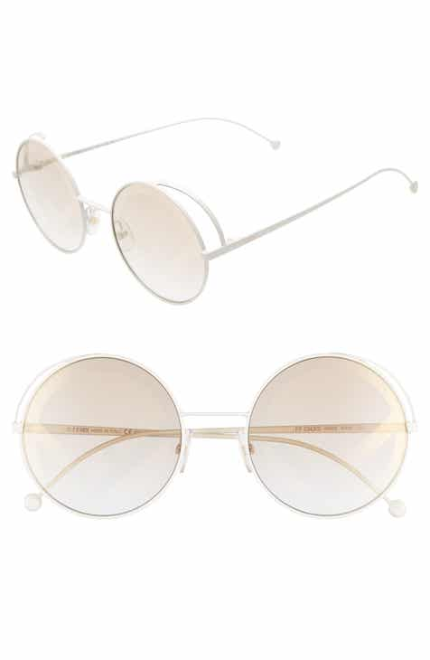 e88ba1a8b0e0 Fendi 53mm Lenticular Round Sunglasses