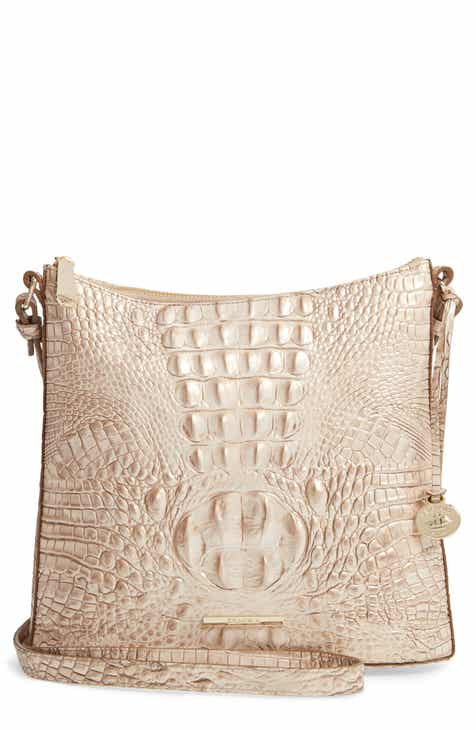 1884ef2f0809 Brahmin Katie Croc Embossed Leather Crossbody Bag